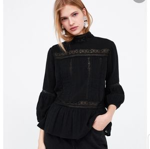 Zara | Pretty Blouse With Lace Trims